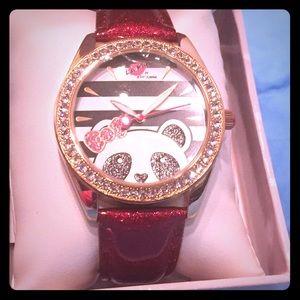 Luv Betsy rhinestone panda watch(new)